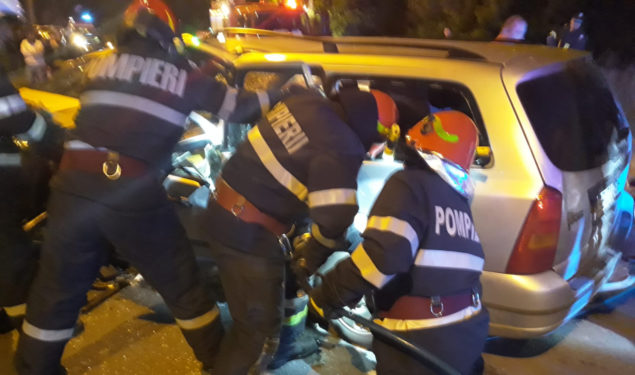 FOTO: Accident cu victime la Mediaş