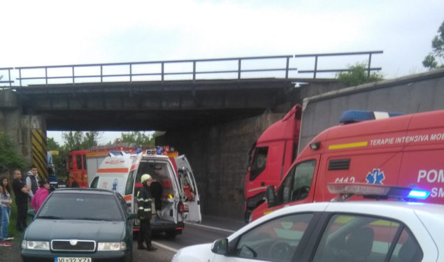 Accident în lanţ la Tălmaciu